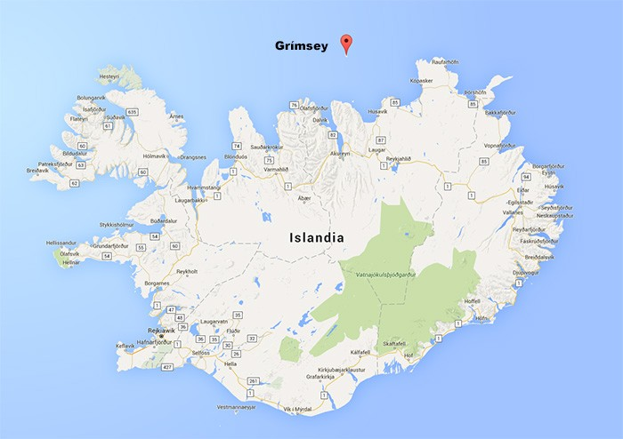 Grímsey mapa