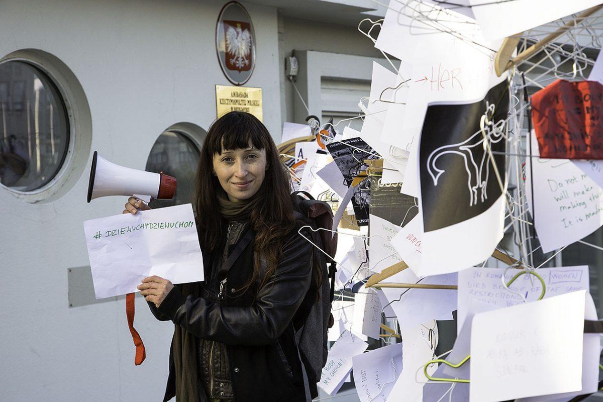 Współorganizatorka protestu Justyna Grosel. fot. Jacek Karwat
