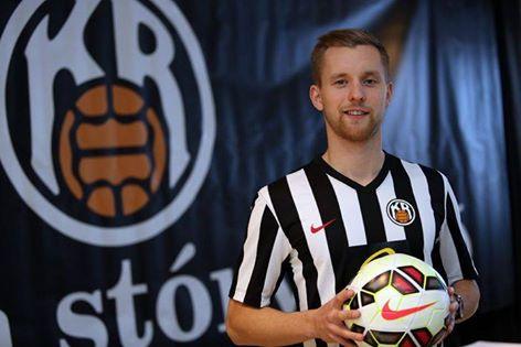 Młody talent z KR Reykjavik - Hólmbert Friðjónsson.