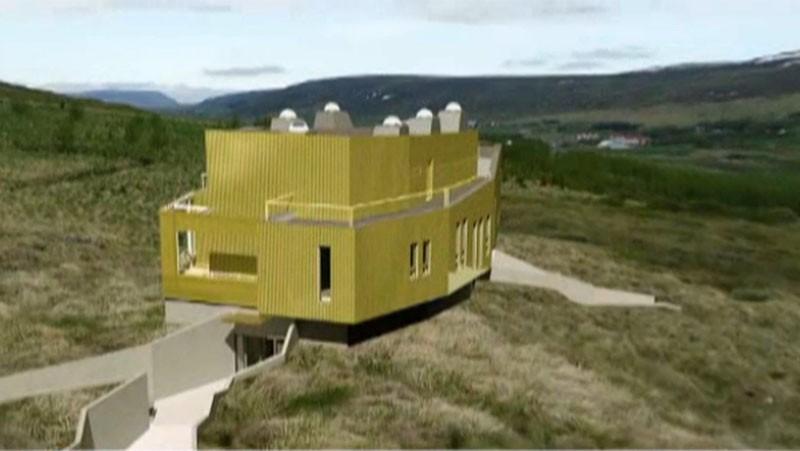 Projekt budynku badawczego/ zdjęcie visir.is