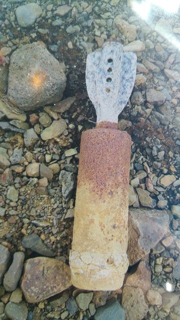 Niewypał znaleziony w Borgarnes. fot. Landhelgisgæsla