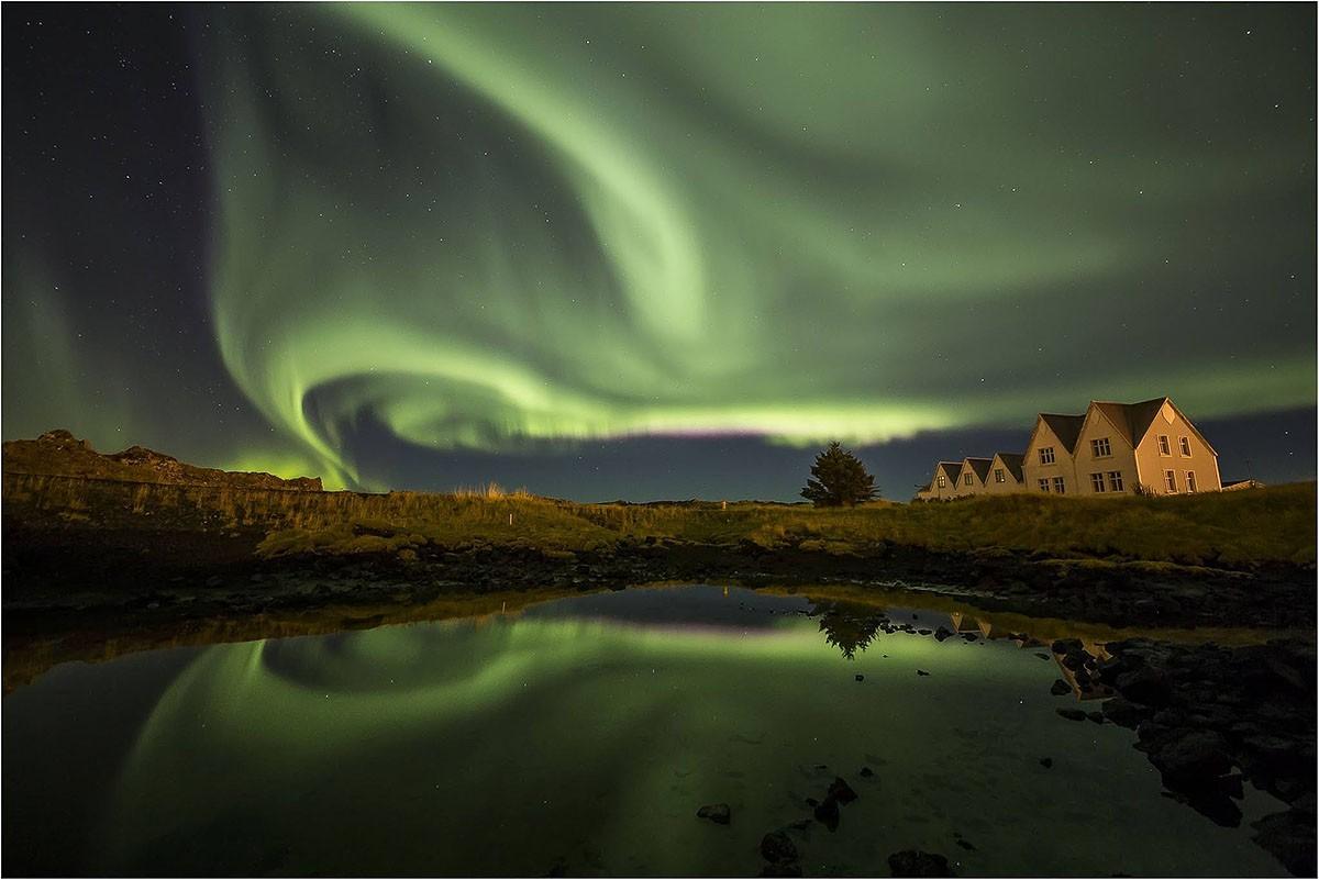 Zorza polarna zdjęcie Daniel Ciślik