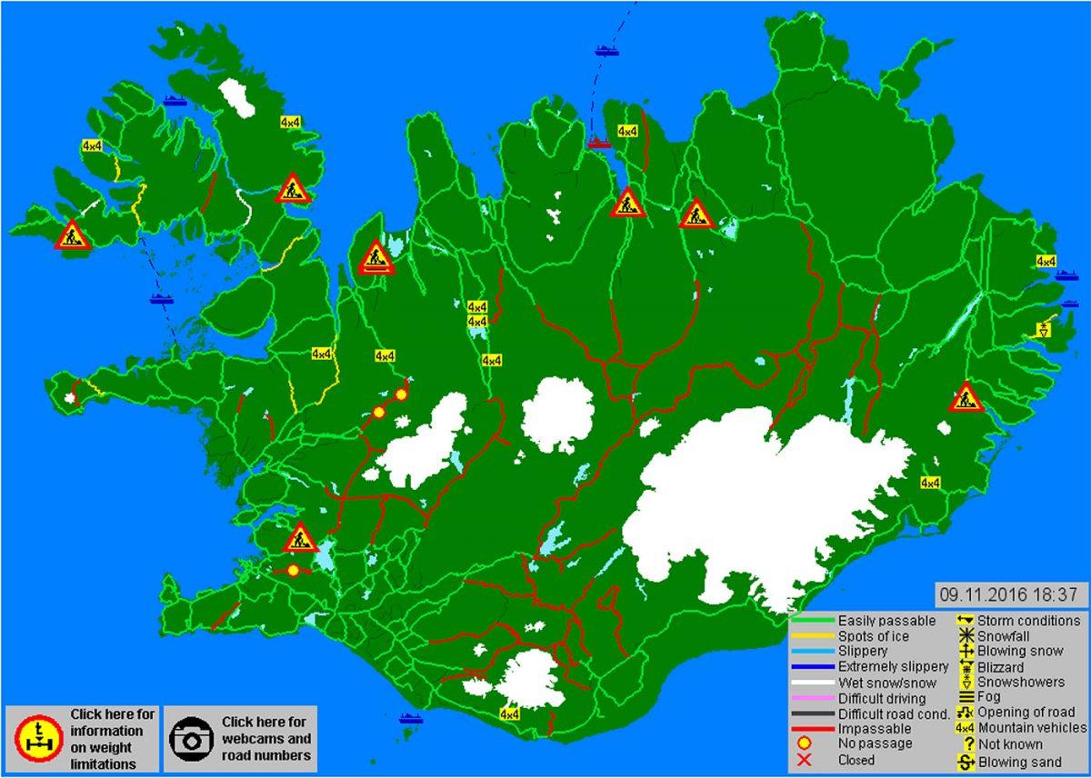 mapa pokazująca drogi zamknięte dla ruchu(te oznaczone na czerwono) / Zarząd Dróg