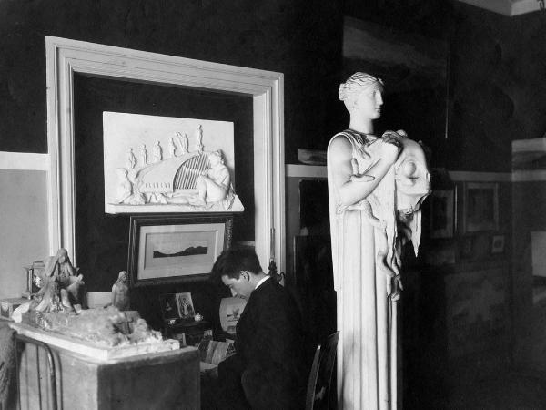 Einar Jonsson przy pracy/ fot. muzeum