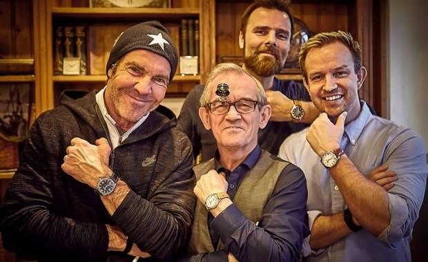Dennis Quaid z właścicielami firmy JS Watch co. / fot. visir.is