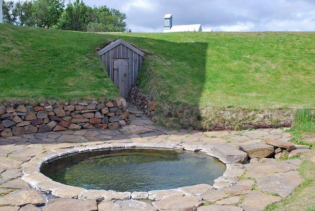 Gorące źródło, w którym kąpał się Snorri Sturlson