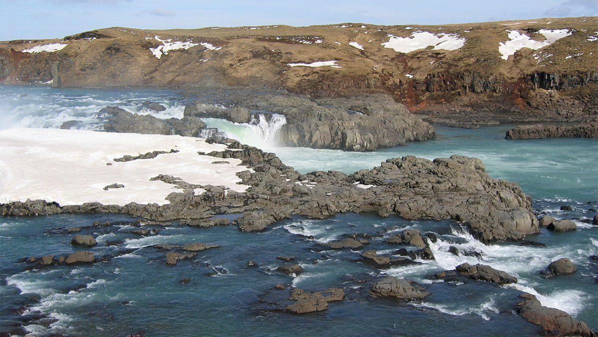 Wodospad Urriðafoss na rzece Þjórsjá/ fot. wikipedia