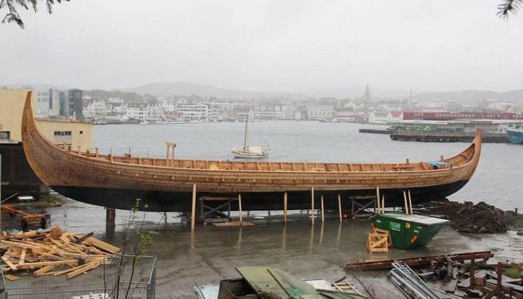 Budowa statku Wikingów
