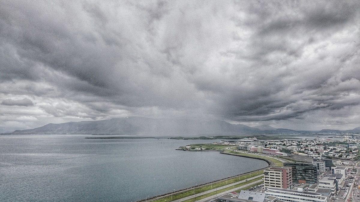 Widok na zatokę Reykjaviku z budynku Höfðatorg/ fot. Adrian Markowski