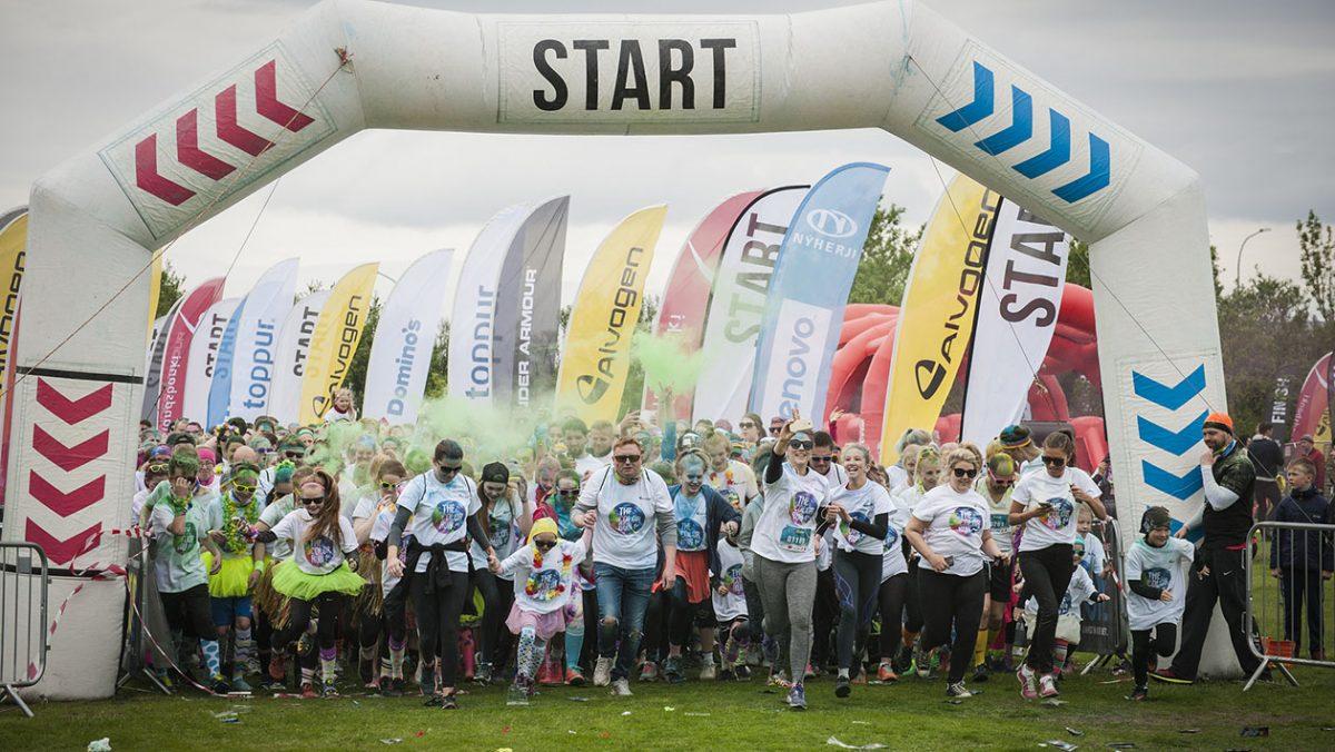 Color Run 2016 Reykjavik/ fot. Niebo Foto/Iceland News Polska