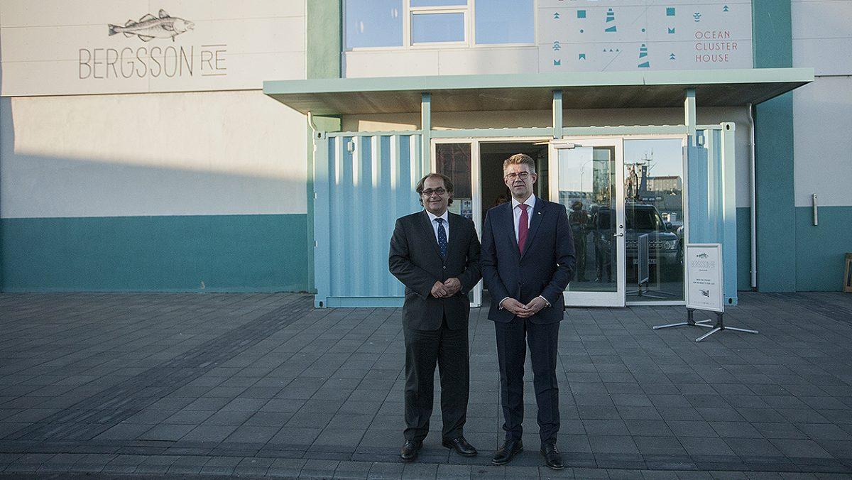 Minister Marek Gróbarczyk i Minister Gunnar Bragi Sveinsson. fot. Justyna Grosel/ Iceland News Polska