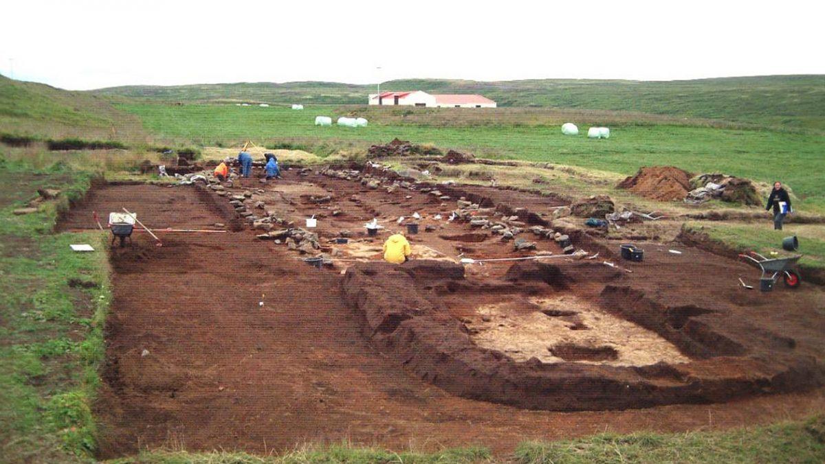 Hofstaðir, miejsce prac archeologów