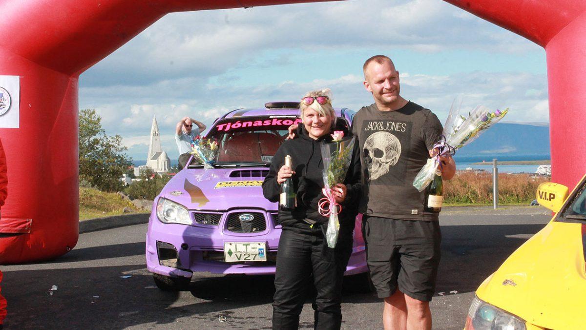 Ásta Sigurðardóttir i Daníel Sigurðarson na mecie/ fot. Witold Bogdański