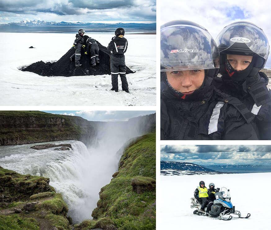 Aktorka z rodziną podczas urlopu w Islandii/ fot. goop.com