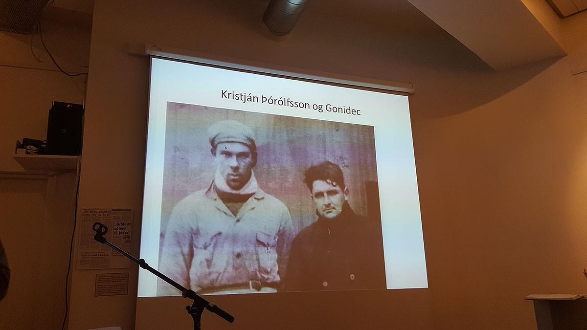 Kristjan Þórólfsson i Eugene Gonidec