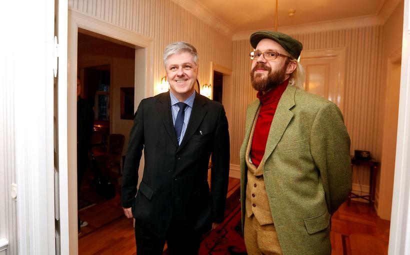 Óttarr Proppé (po prawej) i Benedikt Jóhannesson (po lewej) / fot. mbl.is / Eggert Jóhannesson
