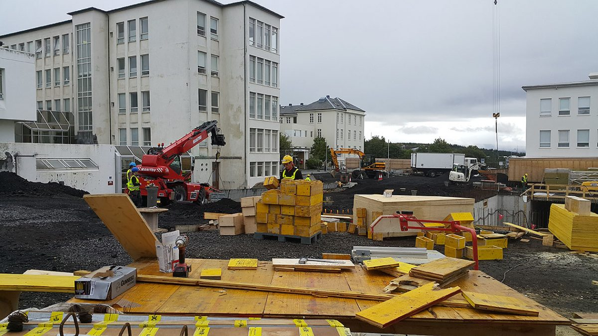 Zdjęcie z budowy gdzie pracowali zatrudnieni przez firmę G&M